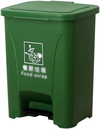 Lugar Público Cubos de basura y la estación de metro de fábrica Jardín contenedores de reciclaje grande engrosamiento pedal de clasificación caja de basura (Color : Green , Size : 28*37*47CM) : Amazon.es: Hogar