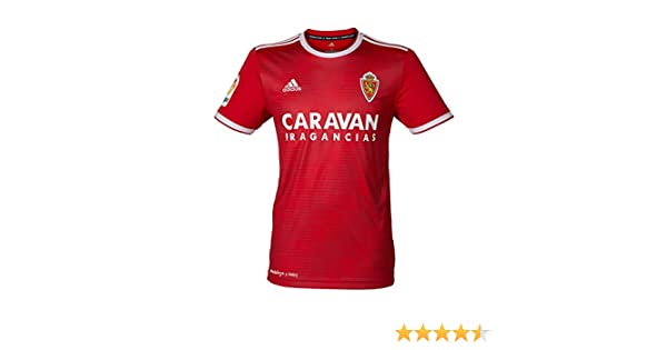 adidas Real Zaragoza Segunda Equipación 2018-2019, Camiseta, Red-White: Amazon.es: Deportes y aire libre