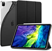 ESR iPad Pro 11 ケース 2020 オートスリープ/ウェイク対応 [鑑賞/タイピングスタンドモード][ゴム製カバー付き柔軟性抜群TPU背面] リバウンドスリムスマートケース