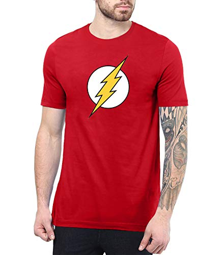 Red Shirts for Men Super Hero Tee | Flsh, S -
