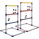 Champion Sports Deluxe Outdoor Ladder Ball Game: Backyard Party, Camping & Beach Games Ladder Golf Set Adults Kids Bolas Balls Carrying Case