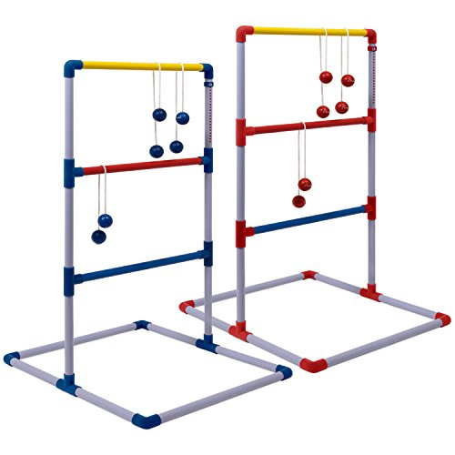 Champion Sports Deluxe Outdoor Ladder Ball Game: Backyard Party, Camping & Beach Games Ladder Golf Set Adults Kids Bolas Balls Carrying Case by Champion Sports