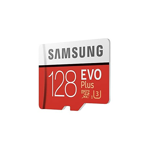 Samsung Evo Plus Class 10 UHS-I microSDXC U3 with Adapter (128GB MB-MC128GA/APC) 2 Model: MB-MC128G/APC Read:up to 100MB/s with UHS-1 interface Write:up to 90MB/s with UHS-1 interface UHS-I, compatible to HS interface, Grade 3, Class 10, 4K