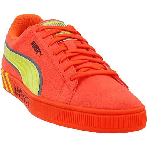 PUMA Men's Hazard Sneaker, Shocking Orange-Lemon Tonic, 10.5 M US (Shoes Puma Men Suede)