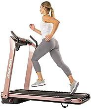 Sunny Health & Fitness 7750P Asuna SpaceFlex Motorized Running Treadmill with Auto Incline, Wide Treadmill