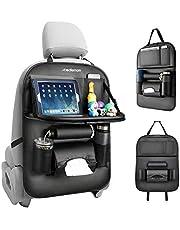 Redlemon Organizador para Auto de Asiento Trasero de Piel Sintética con 7 Compartimentos, Protección de Respaldo, Espacio para Tablet, Termos y Botellas, Smartphone, Resistente a Mojaduras, Universal