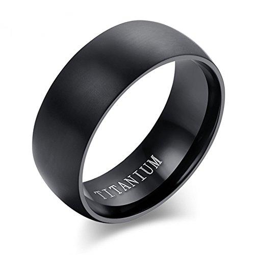 8MM Classic Comfort Fit Titanium Wedding Band | Engagement Ring for Men Women Size 6-14