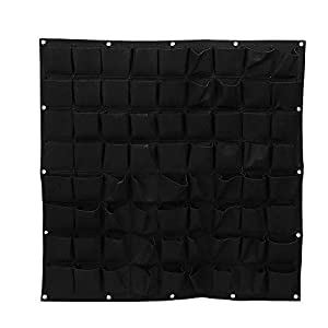 Borsa per piante Wall Hanging Piantare Borse 72 tasche Green Grow accessori for la Borsa Planter verticale Orto Living Garden Bag Casa (Color : Black) 9 spesavip