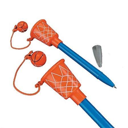 1 Dozen - 5 1/2' Basketball Hoop Pens - Sport-theme Birthday Party -