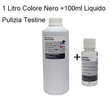 Carga Cartuchos tinta color negro 1000 ml, 1 litro universal ...