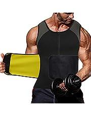 NINGMI Träningsväst för män midjetränare – bastu passar neopren kroppsformare löparväst linne träning gymtröja