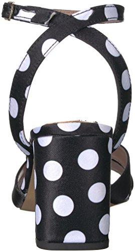 Betsey Johnson Womens Asha Klack Sandal Svart Polka Dot