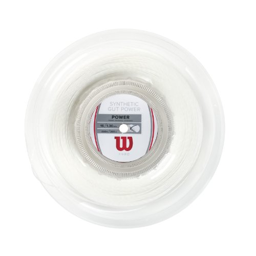 Wilson Synthetic Gut Power 660-Feet Reel, White, 16 ()