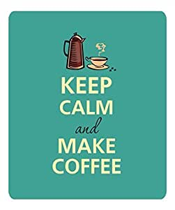 L Keep Calm Make Coffee Anti Slip Comfort Mouse Pad by icecream design