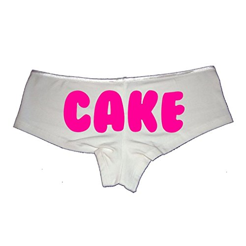 Cake Sexy White Small Women's Cheeky Boyshort Cotton Bikini Bottom Panties