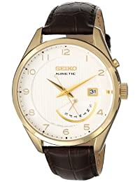Seiko Men's SRN052 Stainless Steel Watch with Leather Band