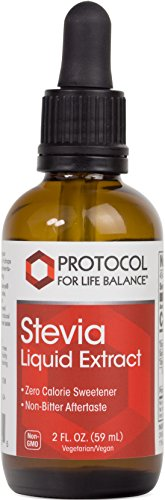 Protocol For Life Balance - Stevia Liquid Extract - Helps to Improve Taste & Sweetening Properties - Zero Calorie Sweetener - 2 fl. oz. (59 (Pure Stevia Liquid Extract)