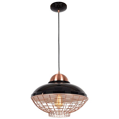 Shiny Copper Pendant Light in US - 9