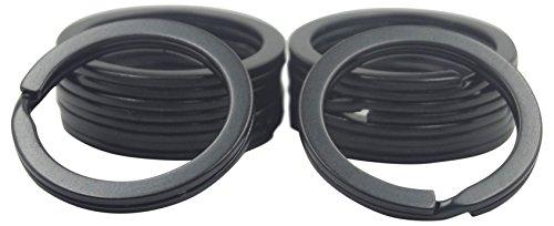 Split Key Design (Shapenty 1 Inch/25mm Diameter Metal Flat Split Key Chains Rings for Home Car Keys Attachment (Black,10PCS/Box))