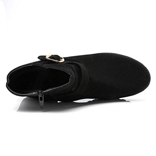 Appartements Les Avec Des Bottines Noir Zipper Automne Coolcept Femmes Consolent Basses ZrZA8