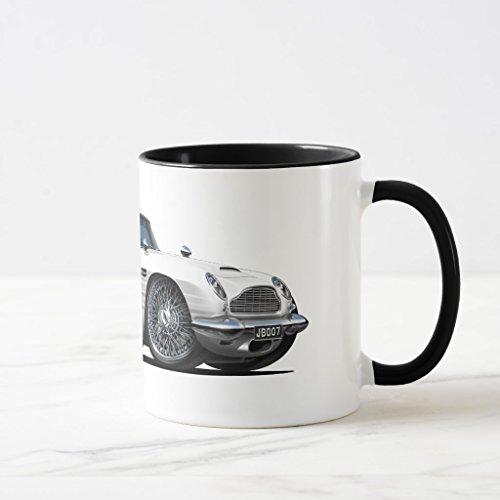 Zazzle Aston Martin Db5 White Car Coffee Mug, Black Combo Mug 11 oz (Db5 1 Aston Martin 8)