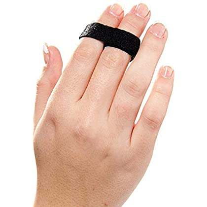 Image of 3-Point Products 3pp Buddy Loops for Jammed and Broken Fingers 1/2' Width Black (Pack of 50) Finger Splints