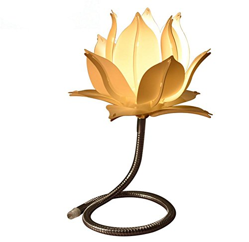DMMSS Creative Personality Desk Lamp Living Room Buddha For The Lotus Decorative Lights Warm Warm Light Study Lighting by DMMSS Lamp