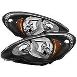 Xtune HD-JH-CHRPT06-AM-BK Chrysler PT Cruiser Halo Headlight