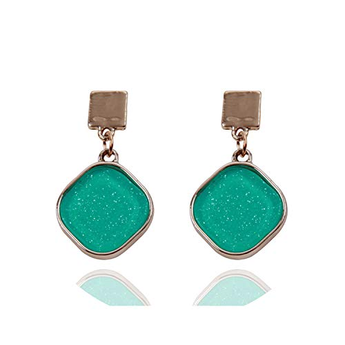 Yellow Dangles Simple Earrings For Women Girl All Matched Drip Oil Geometric Earring Trendy Birthday Cute Jewelry,green