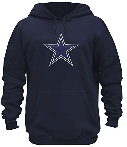 SLL Mens Cowboys Embroidery Cotton Sweatshirt Pullover Hoodie (M) Navy ()