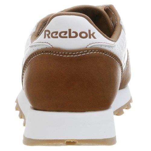 Reebok Menns Klassiske Skinn Hvite Sneaker Hvit / Tan