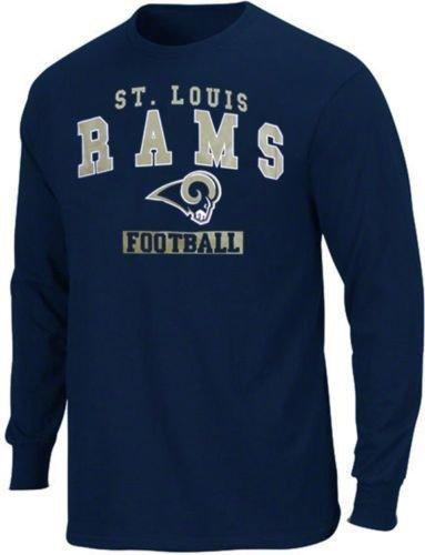 St Louis Rams NFL Team Apparel Name & Logo Long Sleeve Shirt Big & Tall Sizes (5XL) ()