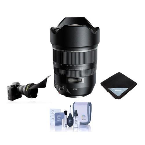 Tamron SP 15 – 30 mm f / 2.8 Di VC USD for Canon EOS DSLRカメラ – Bundle with Flexレンズシェード、レンズラップ(19 x 19、クリーニングキット   B01D40D1HG
