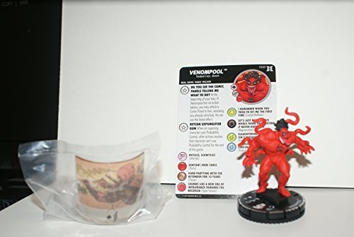 (Deadpool & The X-Force Venompool Heroclix MIniature with Stat Card and Base)
