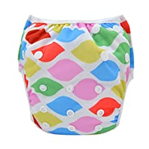 Babygoal Baby Swim diapers, Babygoal Reuseable Washable and Adjustable for Swimming, Outdoor Activities and Daily Use, Fit Babies 0-2 Years SWYA70-CA