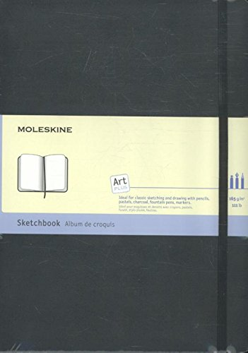 Moleskine Art Plus Hard Cover Sketchbook, Plain, A4 (8.25