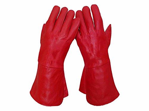 Gauntlet Gloves Leather - 6