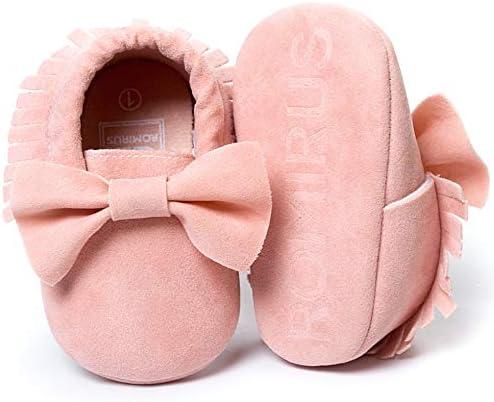 LIVEBOX Infant Baby Girls and Boys Premium Soft Sole Moccasins Tassels Prewalker Anti-Slip Toddler Shoes