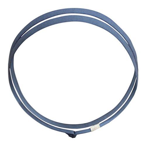 (KOOSHOO Skinny Plastic-Free Headband for Men and Women | Sharkskin Blue Organic Cotton Natural Rubber Hair Band)