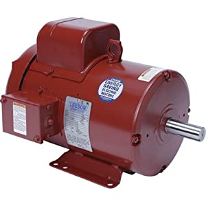3 hp 1740rpm 182t frame tefc (farm duty) 230 volts leeson electric motor #