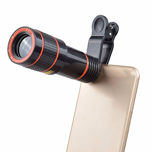 YU Mobile Phone 12 Times Telescope Telephoto External Camera Lens Travel Concert Telescope,Black by YU