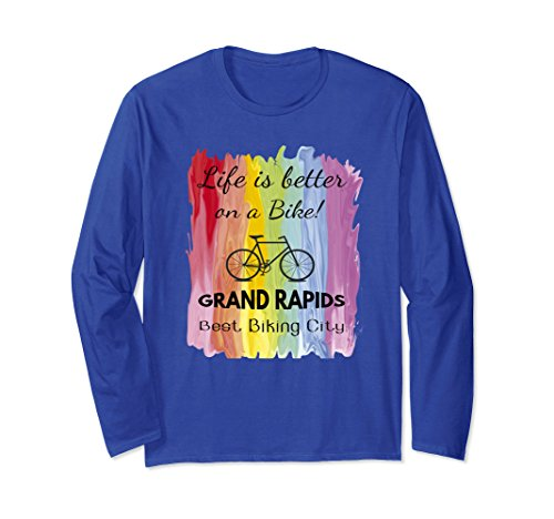 Unisex Biking Best City Grand Rapids Cycling Bike T Shirt Gift Idea Large Royal Blue