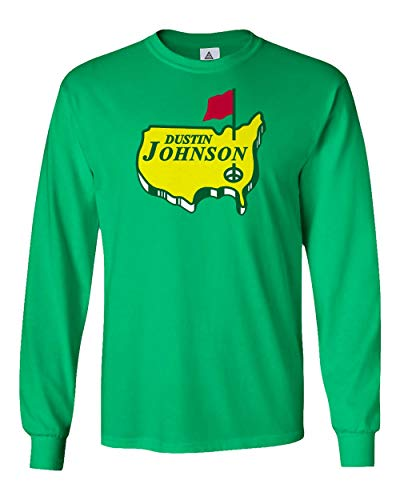 Dustin Johnson PGA Tour The Masters Mens Long Sleeve T-Shirt (Green, X-Large)