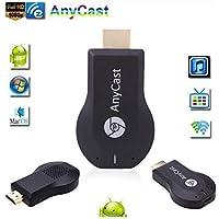 SaferCCTV(TM) HDMI TV Stick Anycast M2 Plus Miracast/ Chromecast HD 1080P TV Stick Wireless WiFi Display Dongle for IOS Apple iPhone iPad Android Smartphone Windows Mac