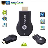 SaferCCTV(TM) HDMI TV Stick Anycast M2 Plus Miracast/ Chromecast HD 1080P TV Stick Wireless WiFi Display Dongle for IOS Apple iPhone iPad Android Smartphone Windows Mac