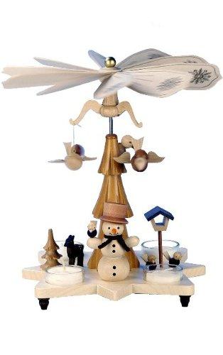 33-301 - Christian Ulbricht Pyramid - Snowman - 10.5''''H x 10.25''''W x 10.25''''D by Christian Ulbricht