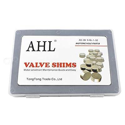 AHL 9.48mm O.D. 1.20mm-4.00mm Thick Adjustable Valve Shim Kit for Honda CRF450R CRF450 R 2002-2012 (52pcs): Automotive