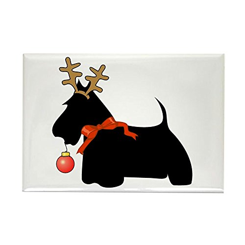 CafePress Scottie Reindeer Rectangle Refrigerator