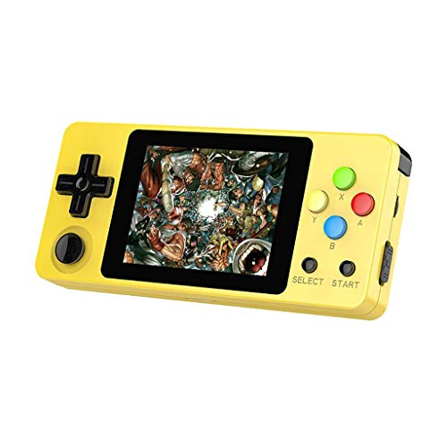 Basde LDK Game Handheld Gaming Console, Retro Portable Gaming System Handheld Game Console Kids Adults Screen by 2.6 Thumbs Mini Palm Nostalgia Console Children of Family TV Video (Yellow) (Best Gaming System For 5 Year Old)