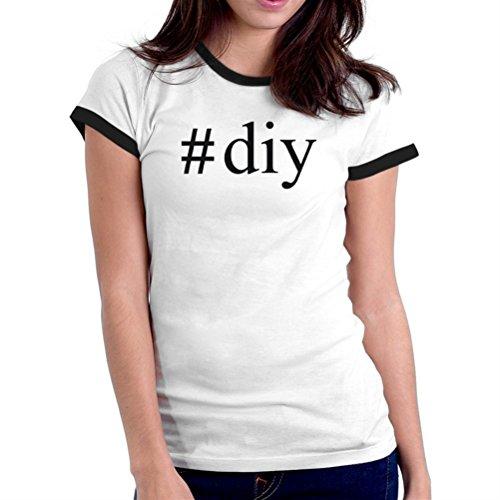 #Diy Hashtag Ringer Women T-Shirt